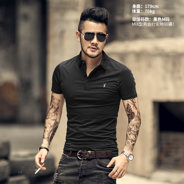Image 4 - Brand Mens Business Polo Shirts Men Desiger Polos Men Cotton Short Sleeve shirt Clothes Summer Polos SolidPolo