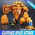 Lepin 07050 New 469Pcs Batman Movie Series The Rock Monster Clayface Splat Attack 70904 Building Blocks Bricks Education Toys