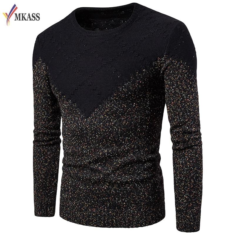 Zuversichtlich Frühling Mode Langarm Pullover Oansatz Beiläufige Männliche Pullover M-2xl Diamant Muster Männer Kleidung Pullover