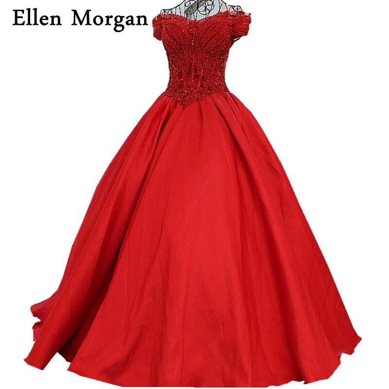 Red Ball Gown Wedding Dresses: Red Satin Ball Gowns Wedding Dresses 2019 Vestido De Noiva