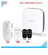 Etiger Secual box Wifi Alarm System Wifi GSM alarm  Wifi Security Alarm system With Android and IOS App Control