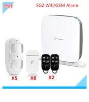 Etiger secual коробка Wi Fi сигнал Системы Wi Fi GSM сигнализация Wi Fi Охранной Сигнализации Системы с Android и IOS приложение Управление