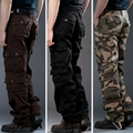 High Quality Mens Cargo Pants Cotton Casual Pants Combat Trousers Camouflage Army Pants Men Military Pants Multi Pockets SZ29-38