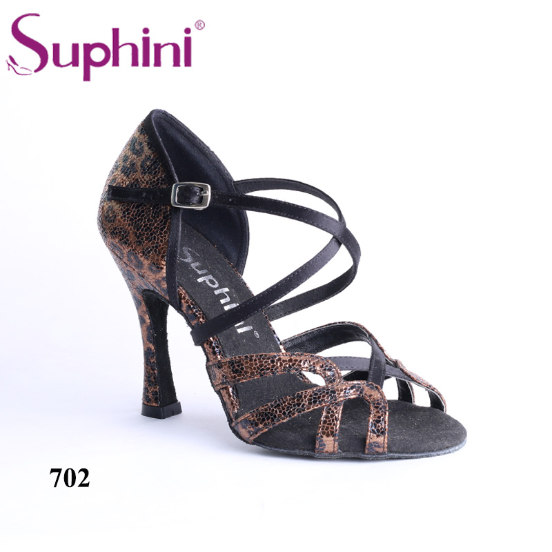 Livraison gratuite Suphini chaussures de danse latine imprimé léopard femme