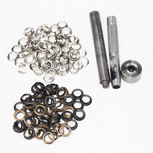 100pcs/set Metal Eyelets Repair Grommets Eyelet Craft DIY Handmade Scrapbooking Leather Clothing Bags Shoes Punch Tools Kit(China)