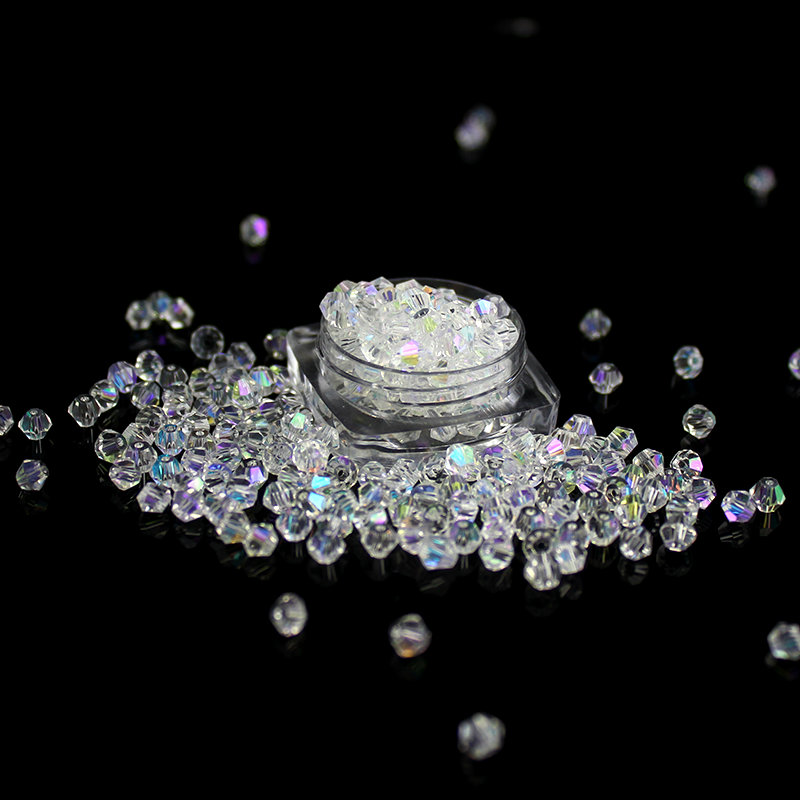 Yüksək keyfiyyətli 4mm 200pcs / çox bicon kristal muncuq şüşə - Moda zərgərlik - Fotoqrafiya 2