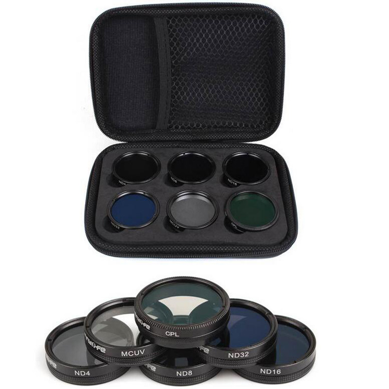 Sunnylife 6Pcs ND4/8/16/32 MCUV CPL Camera Lens Filter Set/Kit for for DJI Phantom 4 PRO/ PRO+/Advanced+ Free Shipping цена