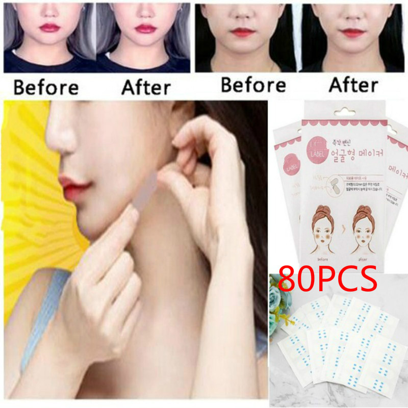 1/2 Box 40pcs Face Lift Tape Thin Face Artifact Invisible Sticker Lift Chin Medical Sticker Face Lift Tools Face Slimming Belt