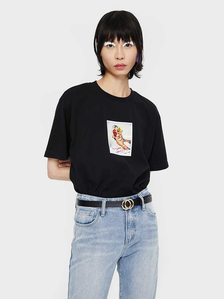 Toyouth, женская летняя Новинка 2019, модная футболка с буквенным принтом, короткий рукав, круглый вырез, хлопок, свободная женская футболка
