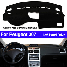 TAIJS Car Dashboard Cover Dash Mat For Peugeot 307 Sun Shade DashMat Pad Carpet Anti-UV Automobile Protector Car Styling