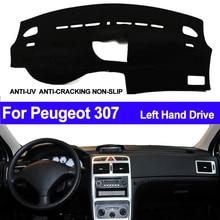 TAIJS cubierta para salpicadero de coche, tapete de salpicadero para Peugeot 307, parasol, alfombrilla, alfombra, Anti UV, Protector para automóvil, estilo de coche