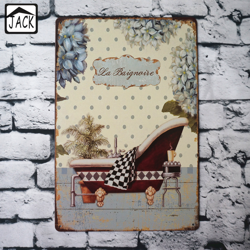 Bath Pool Metal Tin Signs House Gallery Lounge Cafe Home Bathroom Wall Decoration Vintage Plaques Iron Plate In From Garden On