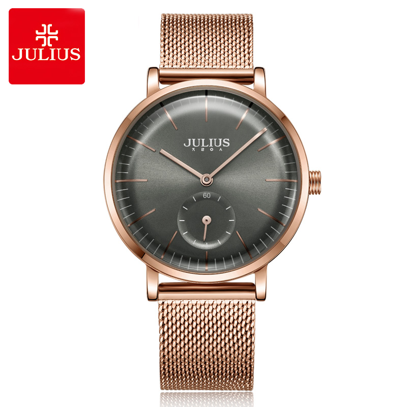 Julius New Stainless Steel Simple Women's Watch Japan Quartz Hours Fashion Elegant Clock Bracelet Girl's Birthday Gift new simple cutting glass women s watch japan quartz hours fashion dress stainless steel bracelet birthday girl gift julius box