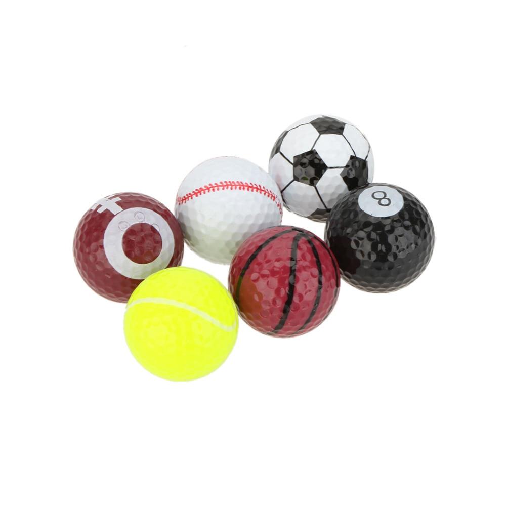 Portable 6Pcs Rubber Golf Balls Indoor Outdoor Practice ...