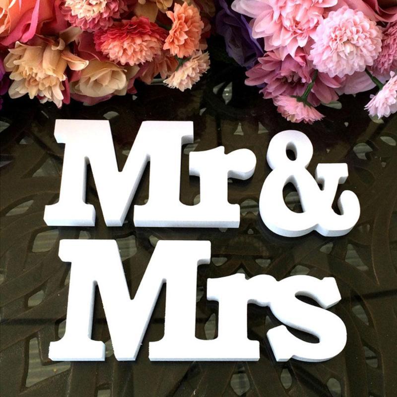 3 шт./компл. Mr & Mrs + любовь деревянные буквы Свадебные Приём знак одноцветное Таблица Centrepiece Декор Mr & Mrs деревянный буквы WED3470