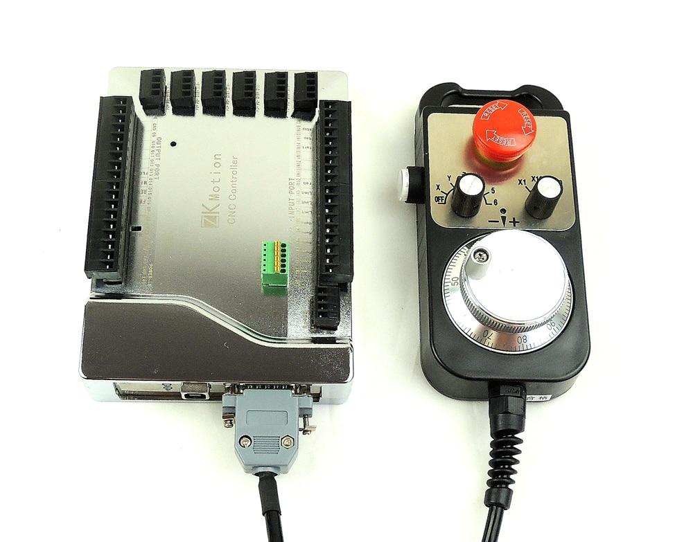 Mach3 USB CNC 4/6 Eixos controlador de Motor de Passo de alta qualidade cartão de Movimento Suave USB Breakout board 24 v + CNC 6 axis MPG volante