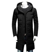 2016 winter männer Kapuzen 80% Weiße ente daunenjacke männer trenchcoat jacken Daunenjacke Lange stil reißverschluss große größe M-3XL