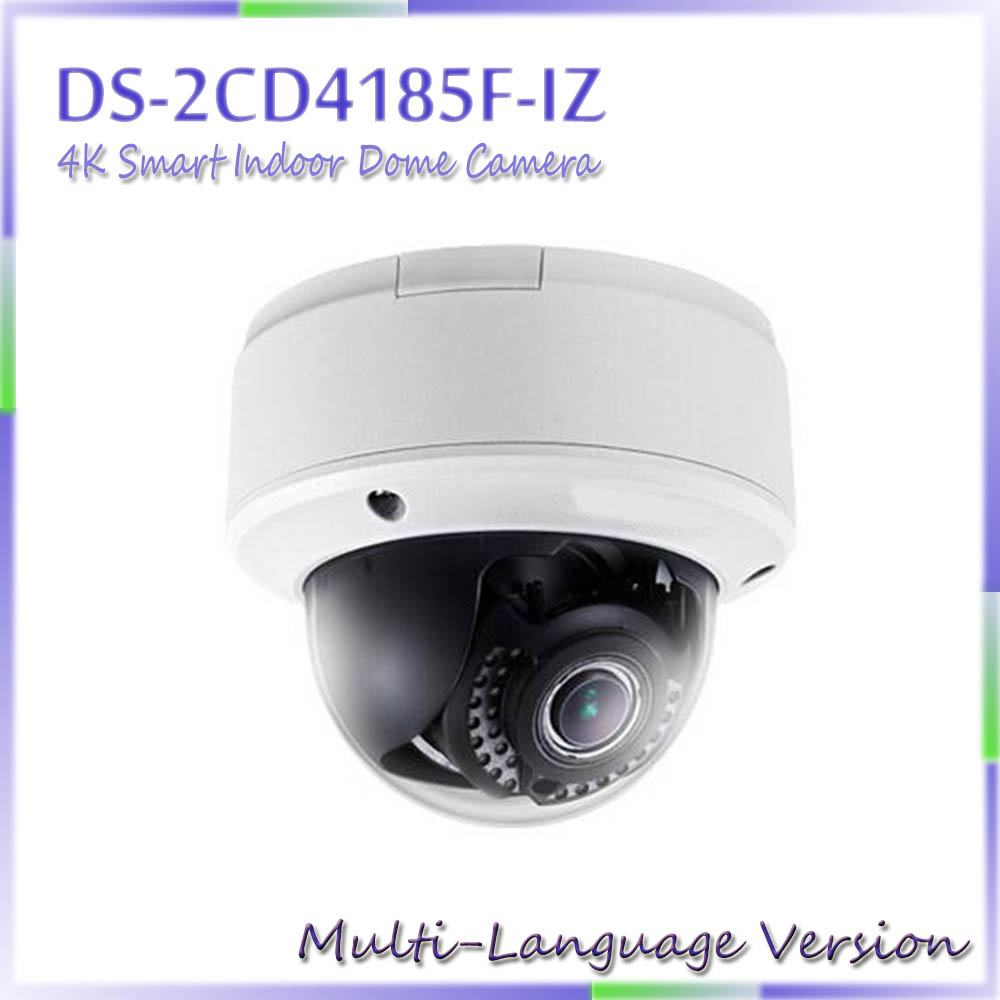 Free shipping Multi language Version DS 2CD4185F IZ 4K Smart Indoor Dome Camera Support 128G on