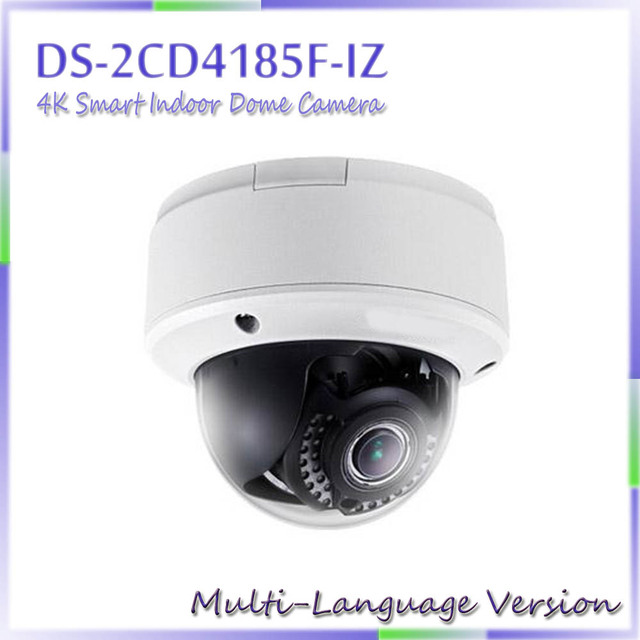 Free shipping Multi language Version DS-2CD4185F-IZ 4K Smart Indoor Dome Camera Support 128G on-board storage