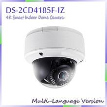 Livraison gratuite Multi langue Version DS-2CD4185F-IZ 4 K puce intérieure caméra dôme soutien 128 G stockage à bord