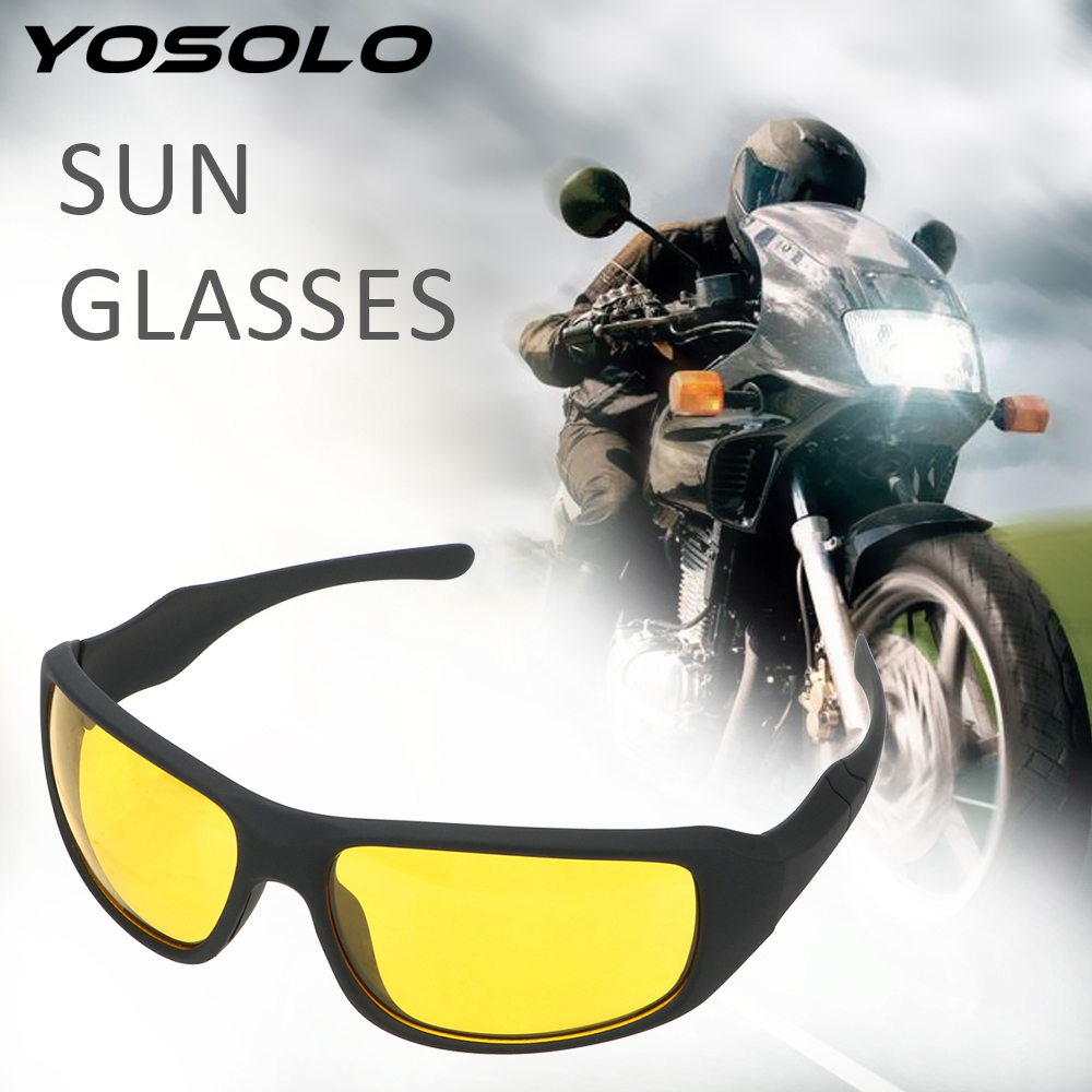 YOSOLO Motorcycle Glasses Wind Resistant Night Driving Glasses Night Vision Goggles Outdoor Sports Riding Sunglasses Eyewear image