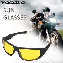 YOSOLO Motorcycle Glasses Wind Resistant Night Driving Glasses