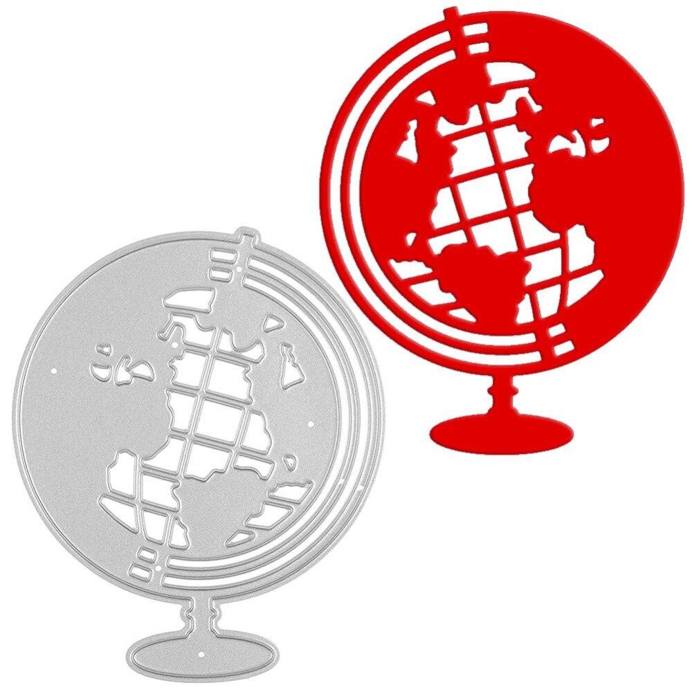 Глобусы металла Штанцевые формы трафарет Тиснение папка DIY Скрапбукинг альбом