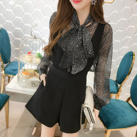 2018 Spring And Summer New Fashion Women S Fashion Two Piece Stars Snowflake Leisure Bib Suit