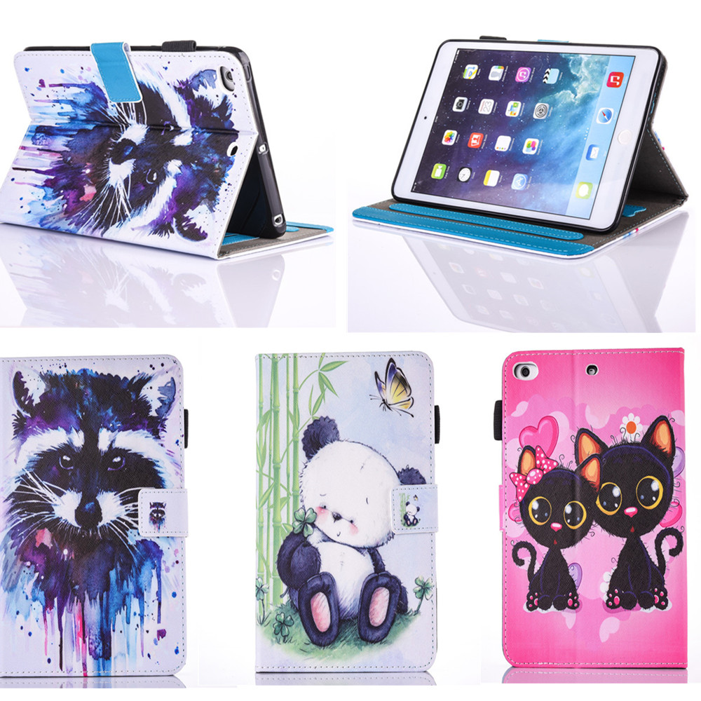 PU Leather Flip Case For Apple iPad Air 1 Case OWI Cat Cute Book Stand Cover Cases for Apple IPad 5 / IPad Air1 9.7'' Tablet for ipad air case dowswin pu leather smart case for ipad air cover with pc hard back stand flip case for ipad air 1 cases