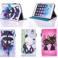 Pu deri flip case apple ipad air 1 için case owi kedi sevimli kitap standı kapak kılıflar apple ipad 5 için/ipad air1 9.7 ''tablet