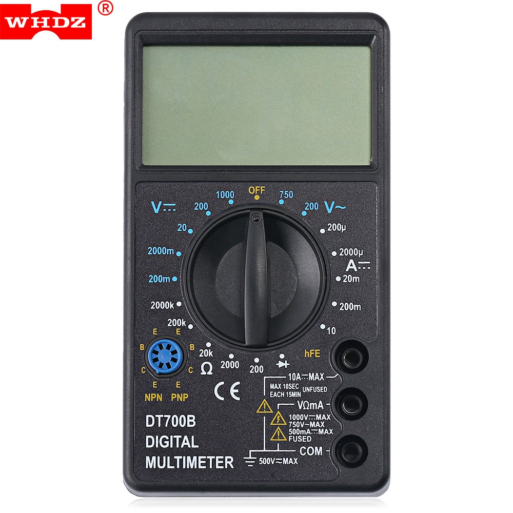 WHDZ DT700B Professional WHDZ DT700B Digital Multimeter AC DC Voltmeter DC Current Resis ...