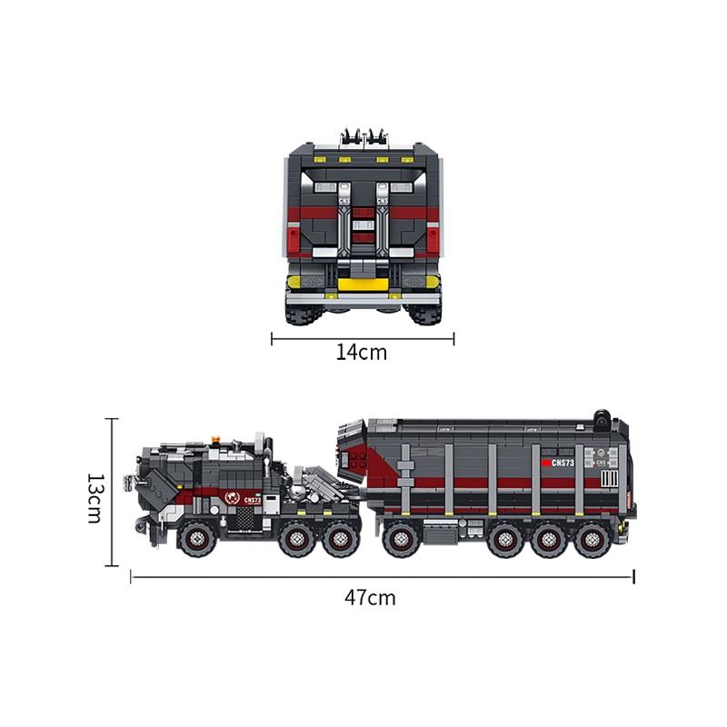 2105 قطعة متوافق Legoed البناء بناء كتل الطوب التكنولوجيا تجول الأرض شاحنة الاطفال مجموعات لعب الأطفال هدية-في حواجز من الألعاب والهوايات على  مجموعة 2
