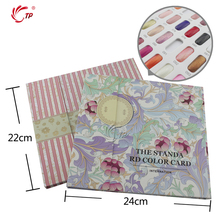 TP 1pc Nail Salon Gel Poland Show Card Book Tool Flower Pattern Mosaic Tip Style Manicure Nail Art Tools