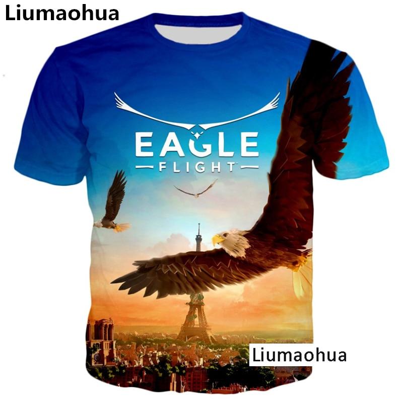 Liu Maohua s font b latest b font fashion style T shirt eagle flight font b