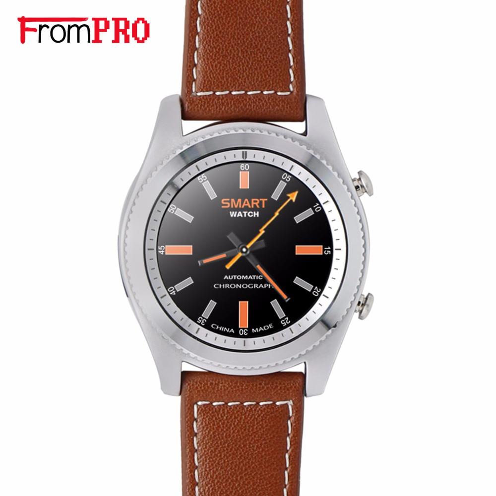 Frompro no. 1 s9 nfc mtk2502c pulsómetro bluetooth 4.0 smart watch smartwatch pu