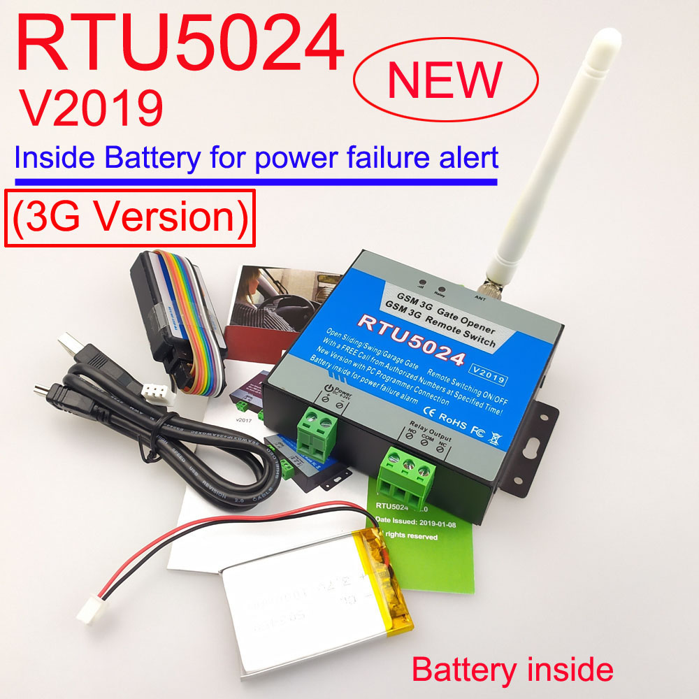 New 2019 version 3G GSM RTU5024 GSM Gate Opener Relay Switch Remote Access Control Wireless Sliding