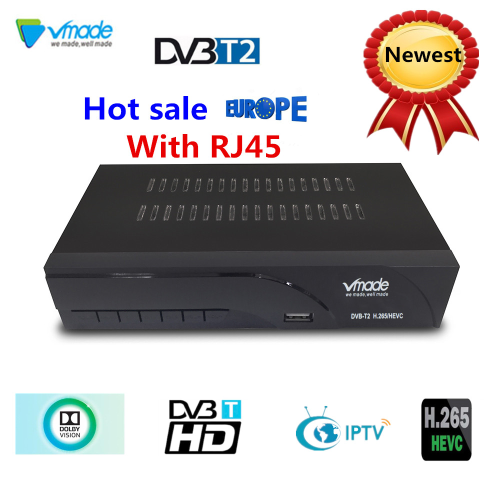 Vmade Newest DVB T2 digital TV receiver supports H 265 WIFI YouTube dvb t2 Receiver hot