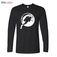 BITTER COFFEE Winter Custom Long Sleeve Valentine S Love Scuba Dive Diver Tee Shirt Printing Men