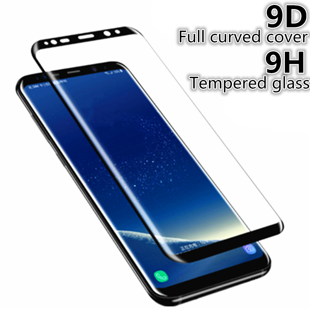 Tempered Glass Movie For Samsung Galaxy Notice eight 9 S9 S8 Plus S7 Edge 9D Full Curved Display Protector For Samsung A6 A8 Plus 2019