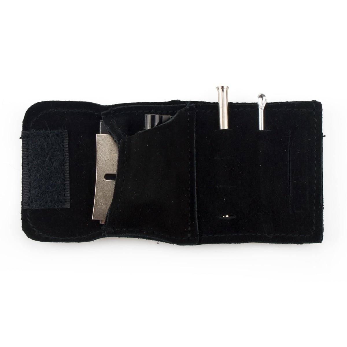 Formax420 13.5mm X 6.5mm Petite Taille En Daim Kit kit Sniffer de Tabac À Priser Snorter Tube Distributeur De Poudre