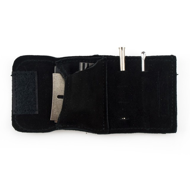 Formax420 13.5mm X 6.5mm Small Size Suede Kit Snuff kit Sniffer Snorter Tube Powder Dispenser
