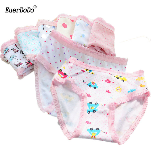 1caf1e7bacf4 Cotton Girls Underwear 2pcs Briefs For Girls Mixed Color Baby Panties  Teenage Girl Underpants Thong Clothing