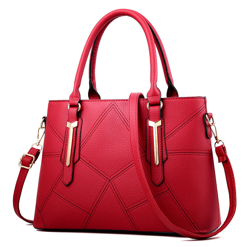 Women Bag Vintage Casual Tote Top-Handle Women Messenger Bags Shoulder student Handbag Purse Wallet Leather 18 New Korean Style стоимость