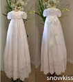 Appliques Lace Baby Girl White/Ivory A-line Floor-length First Communion Dresses Christening Gown Baptism Dress