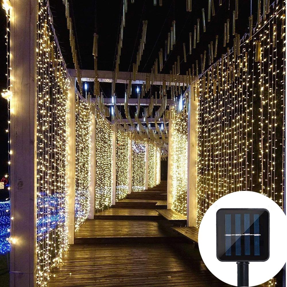 3x3m 300 Led Solar Curtain String
