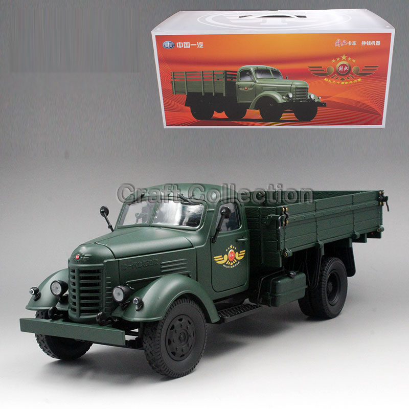 * 1:24 FAW Jiefang CA10 Military Off-road Truck Diecast Model Frontline Truck Driver Toy Miniatures Collection