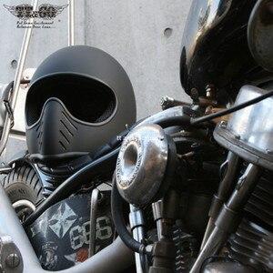 Image 2 - Ttの共同トンプソンmoto rcycleヘルメットフルフェイスcasqueヴィンテージヘルメットチョッパーゴーストライダーレトロヘルメットcasco moto