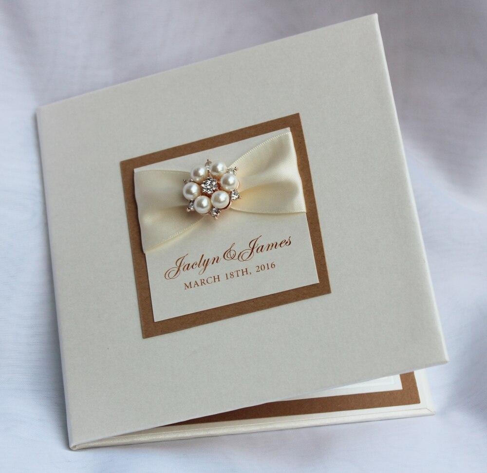 HI1079 Customized Luxurious Hard Cover Wedding Invitation Card Made ...