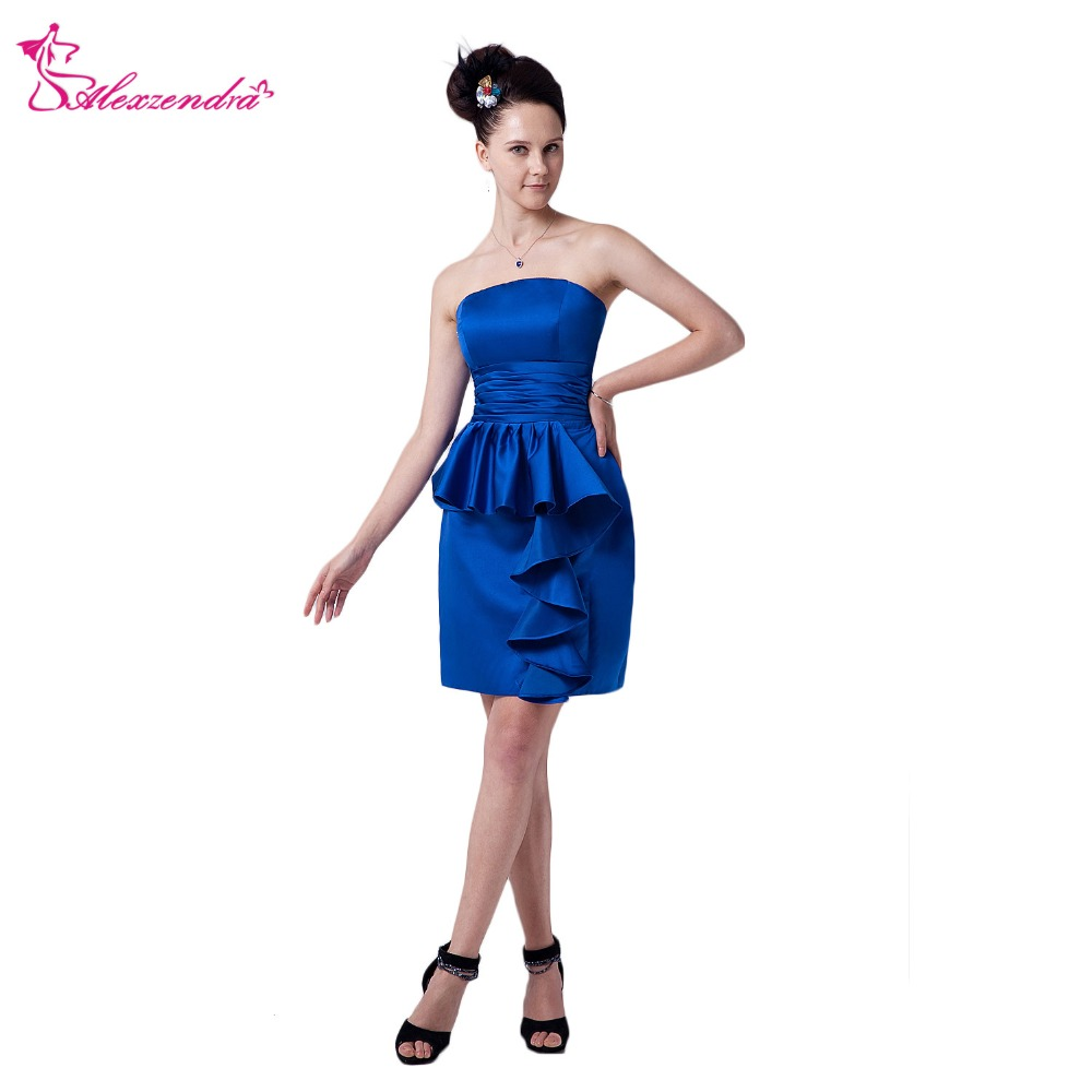 Alexzendra Royal Blue Knee Length Short   Prom     Dresses   Customize Special Party Gowns