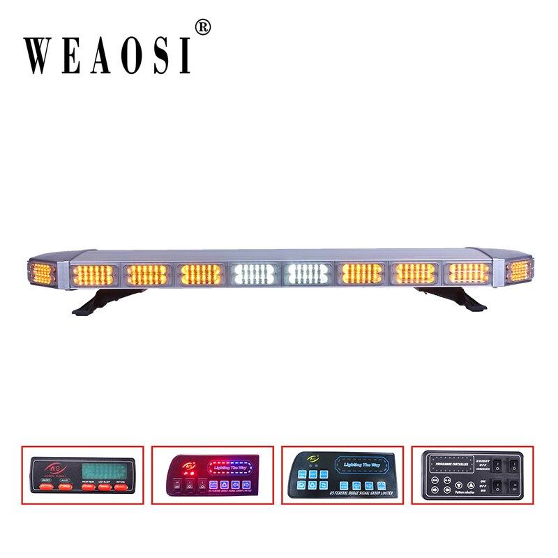 TBD-9F925 Super Brilhante Barra de luz 720W 264 Leds LED barras de Luz Longa Vida Útil/Âmbar Lightbar/Aviso Barra de Luzes para todos os carros